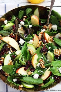 Apple Cranberry Salad Will make it minus the feta to eliminate dairy