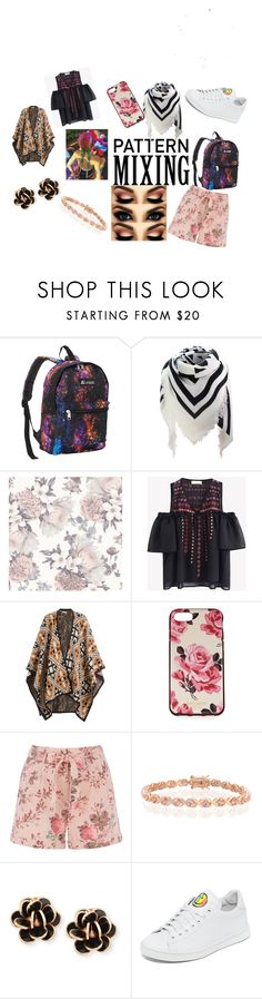"""""""Pattern Mixing"""" by amy-lowson on Polyvore featuring Everest, Tempaper, DAY Birger et Mikkelsen, Kate Spade, Bling Jewelry, Chantecler and Joshua's"""