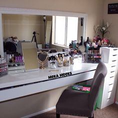 Makeup vanity are