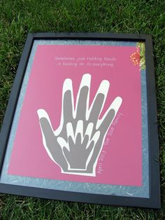 The family handprints...I'll have to get my mom's next time I'm back in MN