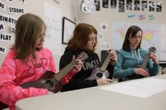 Belanger's Music Class: Students learning to play the ukulele. Student Learning, Ukulele, Catholic, Music Class, School, Students, Play, Twitter, Roman Catholic