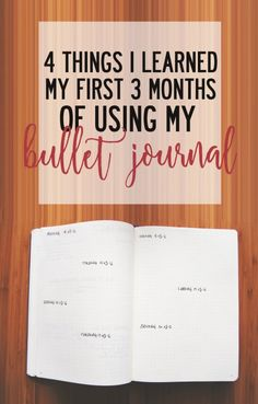 4 things I learned my first 3 months of using my Bullet Journal at Finding North