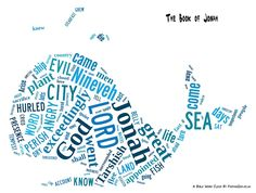 Jonah & The Whale Bible Word Cloud