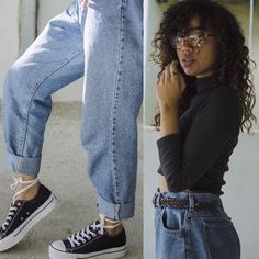 Get this look: http://lb.nu/look/8013516 More looks by Amanda Nicole: http://lb.nu/mandasjournal Items in this look: Converse Platform Sneakers, Calvin Klein Glasses