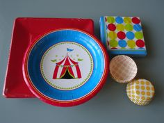 Circus and Polka Dot Party SetSet of 4 Serves 12 by piggybankparty, $22.00
