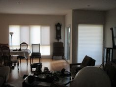 Silhouette Shades (Sheer Shades) and Roller Shades recently installed in Los Angeles, California. Check out the pictures of the fanciest shades available in the industry called a Silhouette Shade. They have many functions and can be lowered for total privacy, tilted slightly to allow light and a view or rolled all the way up to be stored out of sight. In addition, Silhouette Shades give you a close resemblance to Interior Shutters and/or compliment them very nicely.