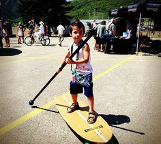 Work out with your kid ! Try land paddling ! - http://www.seattlelandpaddling.com/    #fitness, #outdoors, #landpaddling, #StreetSUP, #paddleboarding, #HyperActiveX