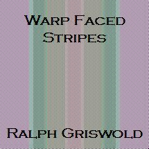 Hand Weaving Drafts From Warp-Faced Stripes - Handweaving.net Hand Weaving and Draft Archive