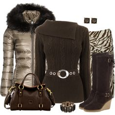 Furry Hooded Coat, created by daiscat on Polyvore