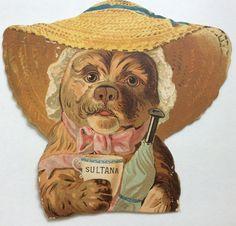 Victorian Trade Die Cut Advertising by VintagePaperCottage on Etsy