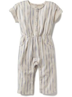 Short-Sleeve Printed Jumpsuit Product Image $11.90