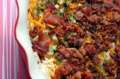 easy potato and bacon breakfast casserole
