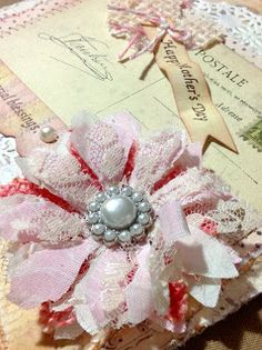 instructions for this super easy shabby flower.