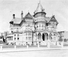 van ness avenue pre earthquake | Residence of W. S. Hobart residence at Van Ness & Washington