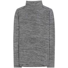 Vince Stretch Turtleneck Sweater found on Polyvore featuring tops, sweaters, grey, gray top, vince turtleneck, grey turtleneck sweater, turtle neck tops and vince sweaters