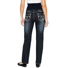 8f714003a9 PURCHASED  Maternity Overbelly Embellished Back Pocket Straight-Leg Jeans -  jcpenney -  33.00 Maternity