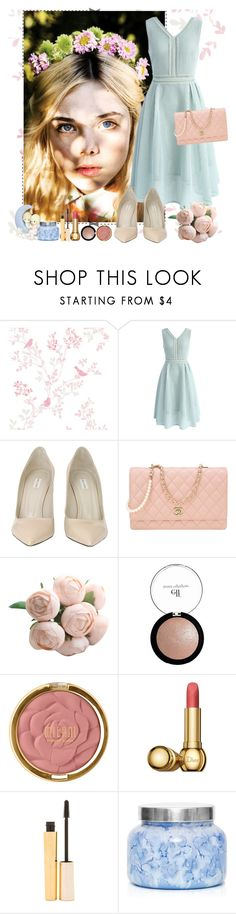 """""""- friend of the bride"""" by a-shaykhina ❤ liked on Polyvore featuring Chicwish, Marc Jacobs, Chanel, e.l.f., Milani, Christian Dior, Stila, Capri Blue and Precious Moments"""