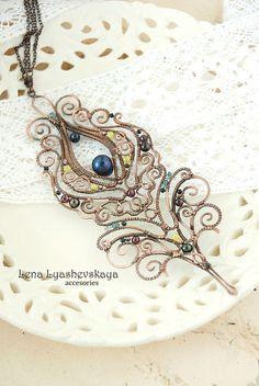 "Pendants handmade. Fair Masters - handmade pendant ""MAGIC FEATHER BIRDS."" Handmade."