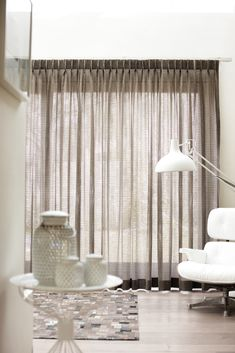 Contemporary living with Kobe's Maroa collection Sheer Drapes, Curtains With Blinds, Curtain Designs, Window Coverings, Home Interior, Soft Furnishings, Stores, Interiores Design, Interior Inspiration