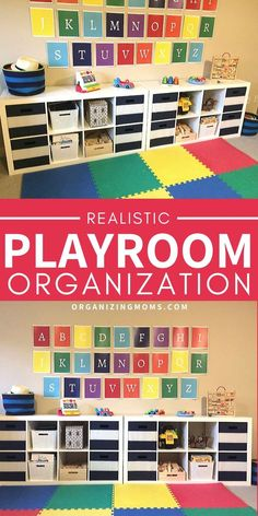 Realistic Playroom Organization and Toy Storage Ideas - Organizing Moms - - Realistic playroom organization ideas that are easy to implement and maintain. Simplify the organizing toys with these totally do-able tips. Ikea Toy Storage, Bath Toy Organization, Organizing Toys, Playroom Organization, Kids Storage, Playroom Decor, Organization Ideas, Storage Ideas, Playroom Ideas