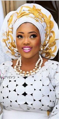 Gélé headwrap attaché foulard ~African fashion, Ankara, kitenge, African women dresses, African prints, Braids, Nigerian wedding, Ghanaian fashion, African wedding ~DKK:
