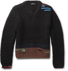 488649789daa7 Prada Colour-Block Virgin Wool Sweater Colour Block