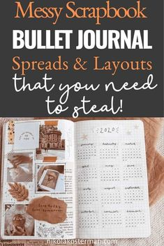 Messy Scrapbook Bullet Journal Spread & Layouts that you need to steal - How this post is going to be laid out: First is some maximalist weekly spread inspiration with some tips on how to achieve the look. Then some more scrapbook bullet journal inspiration for some other spreads in your journal such as year at a glance, monthly layout, daily recap, monthly recap and a review page. Monthly Bullet Journal Layout, Bullet Journal Mood Tracker Ideas, Bullet Journal How To Start A, Bullet Journal Spread, Bullet Journal Ideas Pages, Bullet Journal Inspiration, Journal Pages, Bullet Journals, Journal Art