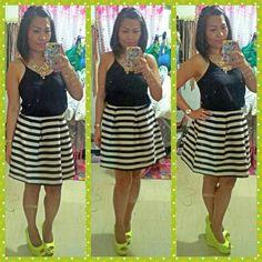 Top-h&m,skirt-h&m,wedges-primadonna