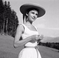 Audrey Hepburn photographed in Bürgenstock (Switzerland), 1954