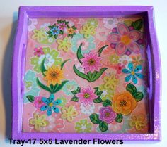 wood tray with a flower theme sealed in resin. Great for kids! Wood Tray, Serving Trays, Handcrafted Jewelry, Magnets, Polymer Clay, Resin, Flowers, Kids, Handmade Chain Jewelry