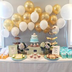 An adorable sheep theme baby shower dessert table www.poshsweetboutique.com