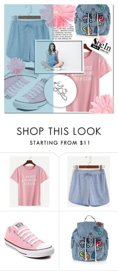 """""""Shein 8"""" by mini-kitty ❤ liked on Polyvore featuring Converse, Topshop and shein"""