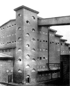 In an Architectural Expressionistic style, the Sulphuric Acid Factory in Luboń, Poland (1911-1912) was designed by German architect, painter and set designer, Hans Poelzig (30/4/1869-14/6/1936)
