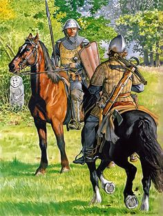"""The militia in the service of the Prussian Order, approx. 1420"""