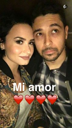 Demi and Wilmer on snapchat