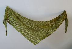 Wendy's Fern shawl pattern by Princesse Grenouille - fingering weight