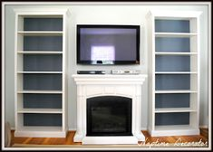 Naptime Decorator: How to Add Molding to Billy Bookcases... living room makeover with tv above fireplace?