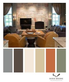 Tuscan Design, Tuscan Style, Room Paint Colors, Paint Colors For Home, Tuscan Colors, Pantone Color Chart, Living Room Orange, Brown House, Mediterranean Home Decor