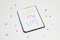 Tarjeta cosida: Love the life | Mimama Handmade