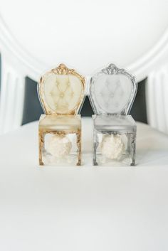 These chair shaped favour boxes are cute, sophisticated and totally unique! Their see-through design creatively showcases the tasty treat or colourful trinket placed inside. Add personalised ribbon, box wrap or favour tag for that prefect finishing touch. Fairytale Weddings, Gold Weddings, Favor Tags, Favour Boxes, Ribbon Box, Personalized Ribbon, Wedding Favor Boxes, Wedding Chairs, Trendy Wedding