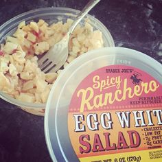The best #eggwhite salad you'll ever eat! 120 calories. #traderjoes #lowcarb