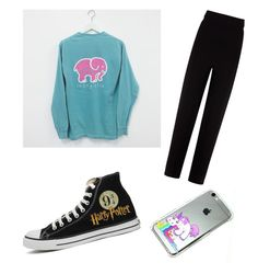 """""""My 11 year old styled this"""" by sroccamo ❤ liked on Polyvore featuring Balenciaga, Converse, women's clothing, women, female, woman, misses and juniors"""