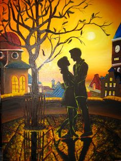 11x14 Oil on Canvas So in Love by artbycheyne on Etsy, $75.00