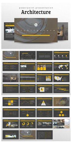 Architecture Portfolio Template, Portfolio Architect, Architecture Company, Architecture Panel, Drawing Architecture, Architecture Design, Ppt Design, Powerpoint Design Templates, Slide Design
