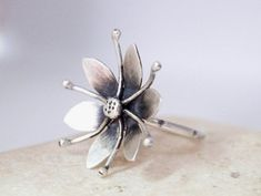 For more handmade jewelry visit our shop page at : http://www.etsy.com/shop/silverstro ---------------------------------------------------------------------------------------- ✿This ring is handmade…MoreMore #SilverJewelry