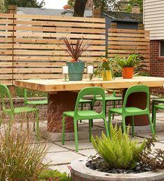 moderne Gartengestaltung-effektive Ideen