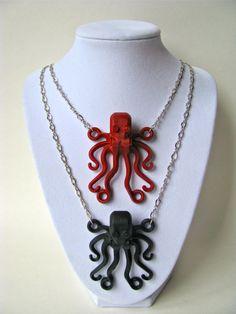 Brick Octopus Necklace. $14.00, via Etsy.