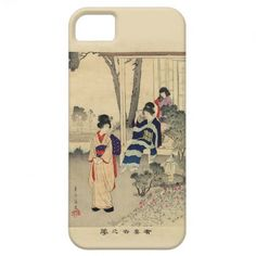 iPhone 5 Cover - Vintage Japanese Illustration  Superb vintage Japanese illustration decorates this iPhone 5 case. Depicting beauti...
