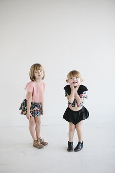 Little Peanut Magazine feature for Le Petit Organic - Spring/Summer Fashion for girls