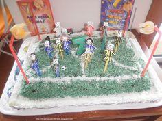 kids parties#football cake#festas crianças#Campo futebol